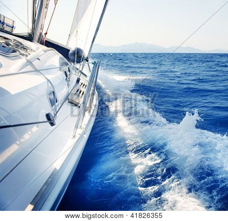 Yacht. Sailing. Yachting. Tourism. Luxury Lifestyle