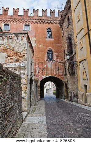 Stradivari palace. Castell'Arquato. Emilia-Romagna. Italy.