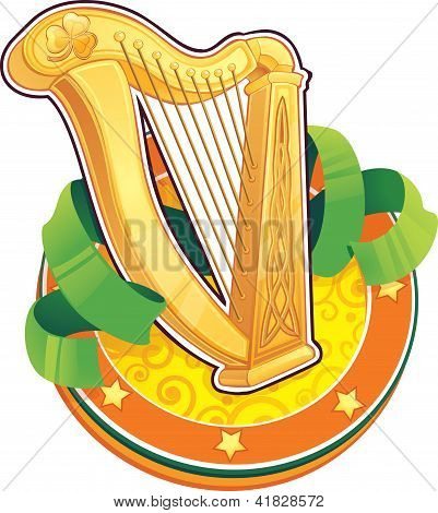 St.patrick's Day Symbol. The Irish Harp
