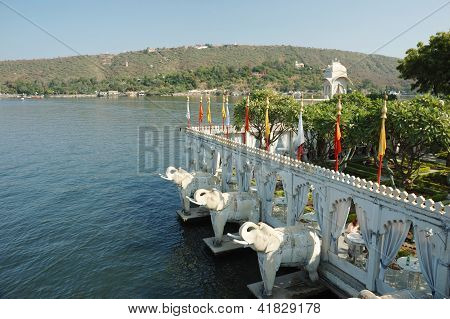 Summer Palace At Jag Mandir Island On Pichola Lake,udaipur, India