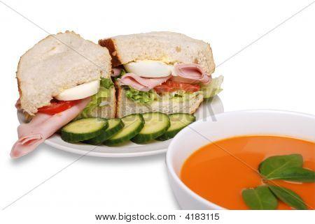 Ham Sandwich And Soup