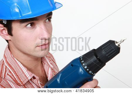 Man with hole