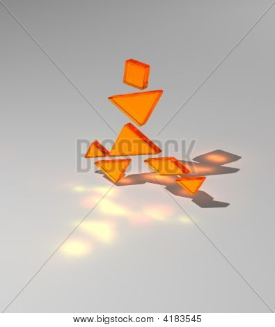 Tangram Man Running