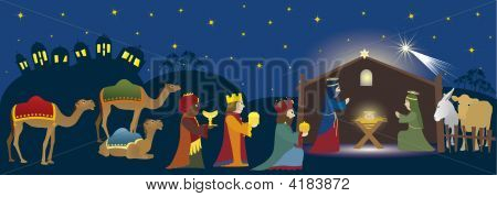 Bethlehem And Three Kings