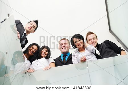 Group of business people with large copy space