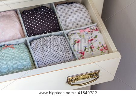 Female Underwear Ordered In A Personal Wardrobe