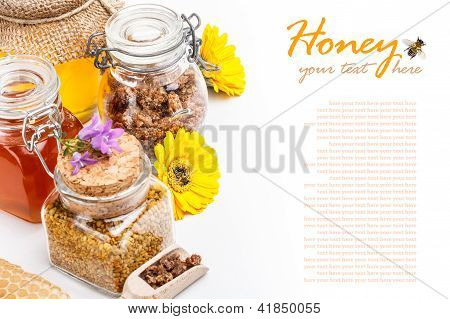 Still Life Of Fresh Honey