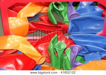 Children's colored balloons