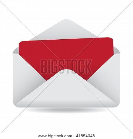 White Open Envelope