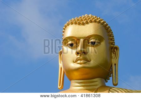 Golden Yellow Buddha Head