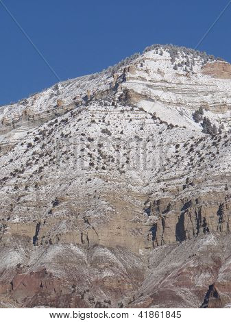 Detail, Mountain Peak In Winter,