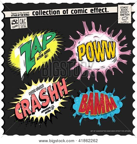 comic book words effect collection