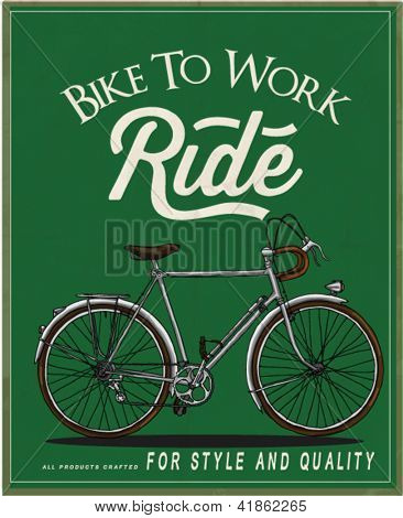 illustration vector vintage retro race rider bicycle with label 2