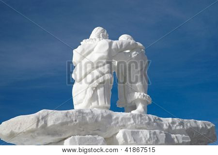 Snow Sculpture in Breckenridge Colorado