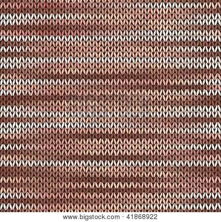 Style Seamless Knitted Pattern. Brown Pink White Color Illustration From My Large Collection Of Samp