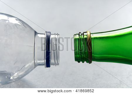 Plastic Versus Glass Bottles
