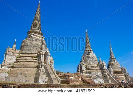 Wat Phra Si Sanphet  Temple of Ayutthaya Historical, Thailand