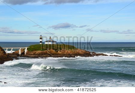 Lighthouse in Ribadeo, Lugo, Spain