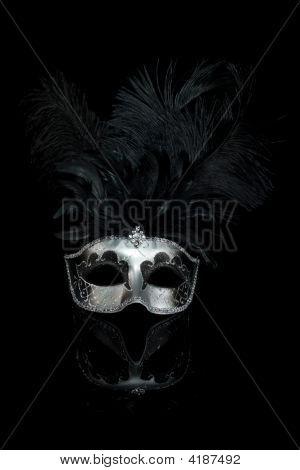 Black Silver Venetian Carnival Mask