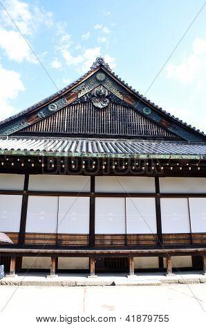 Kyoto, Japão - 27 de outubro: Castelo de Nijo foi construído em 1603 em Kyoto, Japão