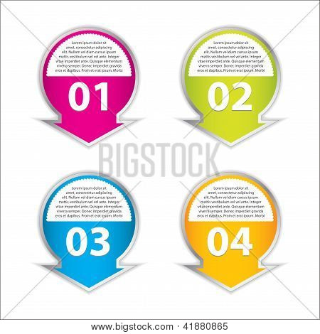 Set Of Four Vector Labels For Various Options