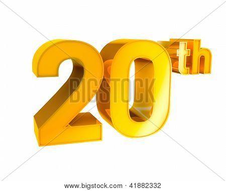 Gold Alphabet Anniversary 20