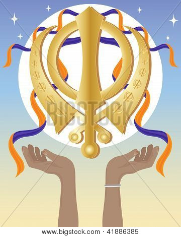 Hands With Sikh Symbol