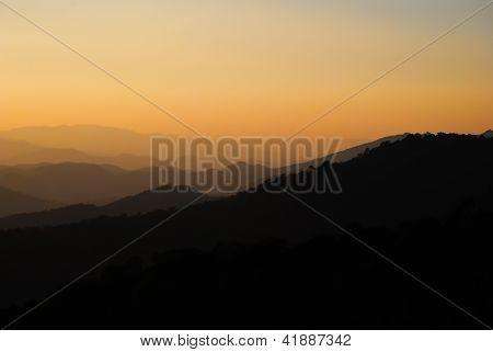 Mountains At Huai Nam Dang National Park, Chiang Mai, Thailand.