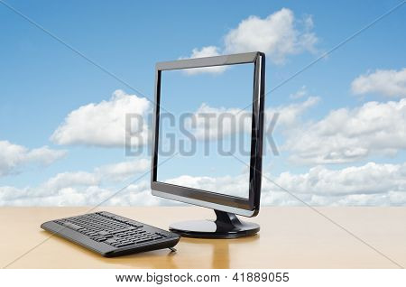 Cloud Computing Facing Left