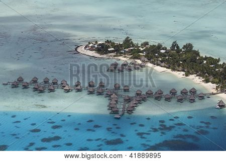french polynesia aerial view