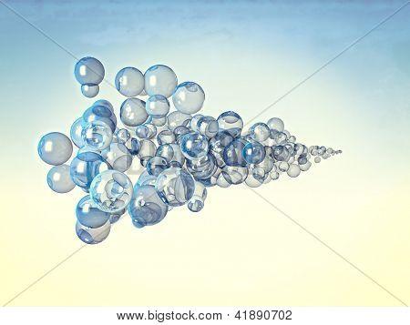fine image of 3d bubbles