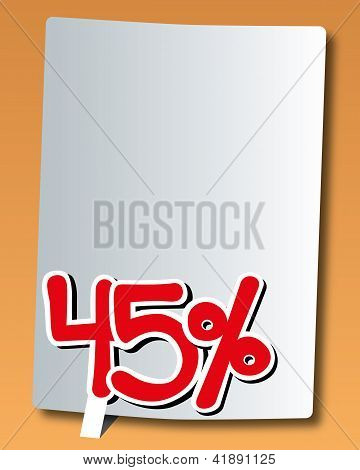 paper with forty-five percent icon