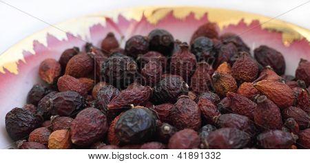 Berries dried.