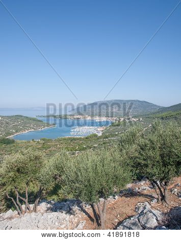 Village of Cres on Cres Island,Croatia