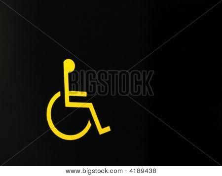 Wheel Chair Access Sign