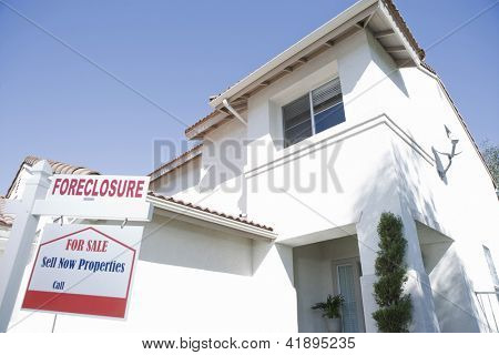 Low angle view of house building for resale