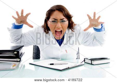 Shouting Medical Professional