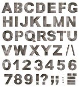 picture of slash  - Full old metal alphabet letters - JPG