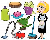 foto of house cleaning  - Cleaning collection 1 on white background  - JPG