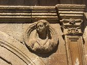 stock photo of ceres  - The sculptured head of a woman on a building in the World Heritage City of C - JPG