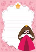 pic of faerie  - Little princess card template with blank space for text - JPG