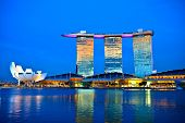 SINGAPORE - FEBRUARY 1: Marina Bay Sands, World's most expensive standalone casino property in Singa