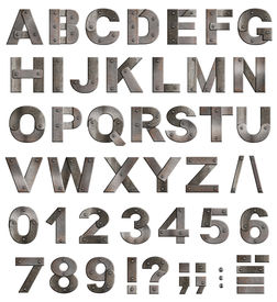 foto of punctuation marks  - Full old metal alphabet letters - JPG