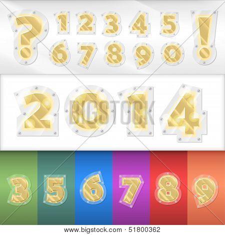 Vector alphabet golden numbers