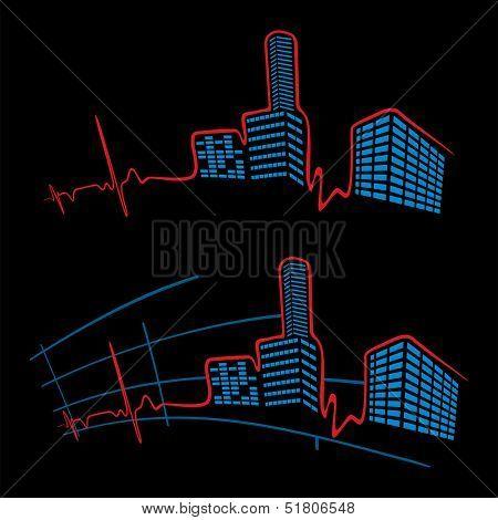EKG of city