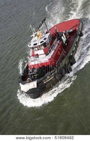 Tugboat on River boat