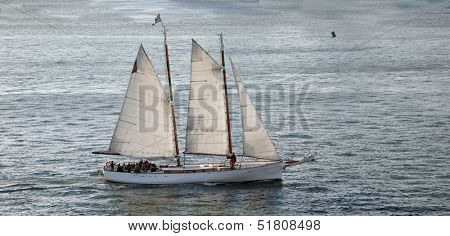 Sailboat in open water