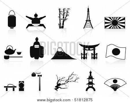 Black Japanese Icons Set