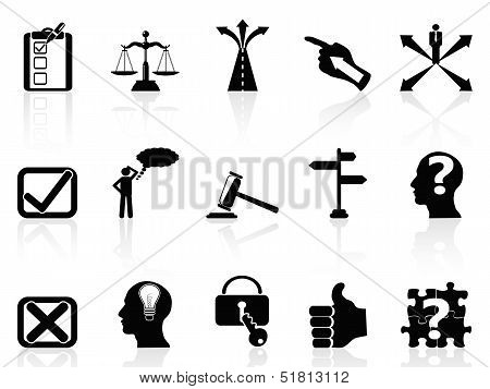 Life Decisions Icons Set