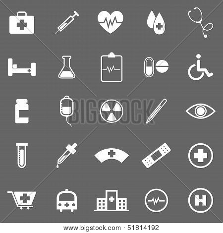 Medical Icons On Gray Background